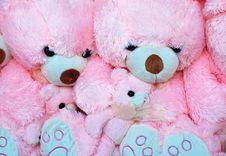 Free Pink Bears Background Stock Image - 8139481