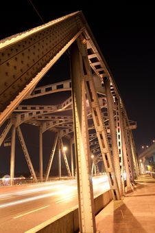 Bridge At Night. Stock Photos