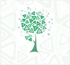 Free Stylish Spring Tree. Royalty Free Stock Photo - 8139675