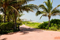 Free Path To South Beach Stock Image - 8141641