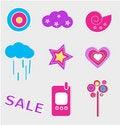 Free Vector Icon Set Stock Photo - 8142100