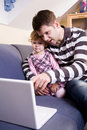 Free Little Girl With Father Stock Image - 8144871