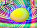Free Egg On Blurred Background. Royalty Free Stock Photos - 8145878