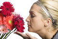 Free Girl Smelling Flowers Royalty Free Stock Photo - 8146065