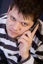 Free Young Man With Cellphone Royalty Free Stock Photos - 8147018