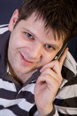 Free Young Man With Cellphone Royalty Free Stock Photo - 8147135