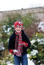Free Boy Making Snowball Stock Photography - 8149162
