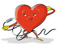 Free Comic S  Colorful Illustration Of A Heart Stock Image - 8149471