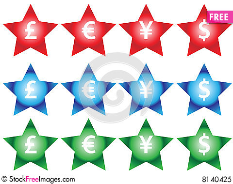 Free Currency Signs Royalty Free Stock Photo - 8140425