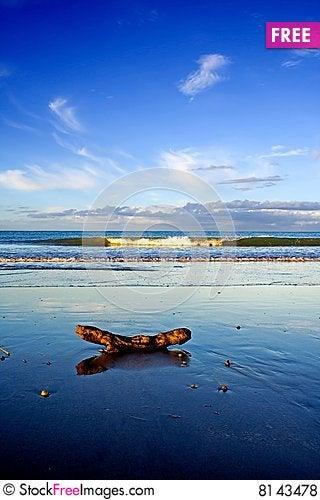 Beautiful Beach Scene, Taipa, New Zealand Stock Photo