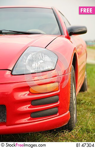 Free Red Sport Car. Stock Images - 8147304