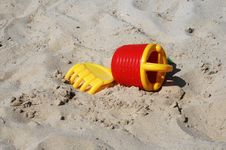 Free Toys On The Beach Stock Images - 8140024