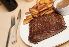 Steak Frite 2 Stock Photography