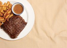 Steak Frite 6 Stock Photo