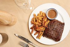 Steak Frite 7 Royalty Free Stock Photo
