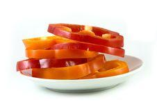 Free Capsicum Slices Royalty Free Stock Photos - 8140438