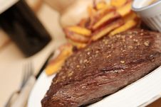 Steak Frite 8 Royalty Free Stock Photos