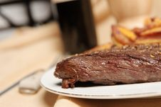 Steak Frite 9 Stock Photo