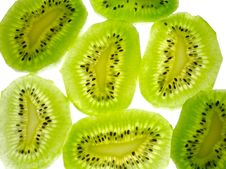 Lobules Of Kiwi Stock Photography