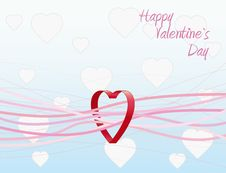 Free Heart Valentines Background. Vector Stock Photos - 8140633