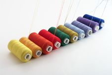 Free Colored Threads Royalty Free Stock Photos - 8140808