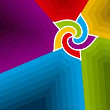 Abstract Colorful Swirl. Vector. Royalty Free Stock Images