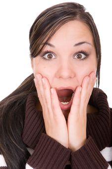 Free Shocked Woman Stock Photos - 8141143