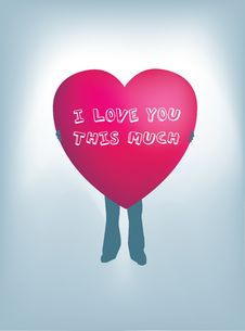 Free I Love You This Much Royalty Free Stock Photos - 8141358
