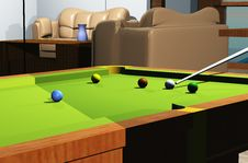 Free Snooker Room Royalty Free Stock Photos - 8141798