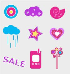 Free Vector Icon Set Stock Photo - 8142100