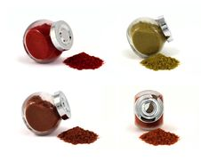 Four Jars With Spices Royalty Free Stock Images