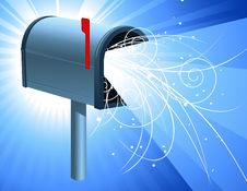 Free Mailbox With Light Royalty Free Stock Photography - 8143117