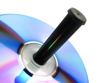 Free CD Spindle Close-up Stock Photo - 8143210