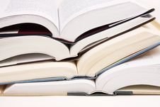 Free Stack Of Opened Books Stock Photos - 8143273