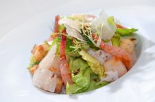 Salad From Seafood Royalty Free Stock Photo