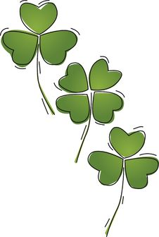 Free Clover On Green Royalty Free Stock Image - 8143446