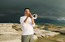 Free Trumpet Royalty Free Stock Image - 8143586