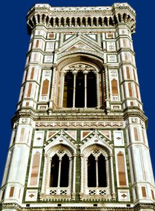 The Tower Of The Cathedral In Florence,italy Stock Photo