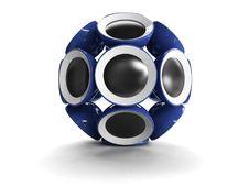 Free Ball Like Speaker On White Stock Images - 8143624