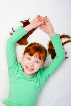 The Girl Smiles Royalty Free Stock Photo