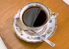 Coffee In An Ornate China Cup Stock Image