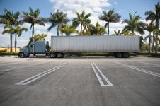 Free Parked Semi With Tropical Background Stock Photos - 8144733