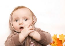 Free Baby With Teddy Stock Image - 8145211