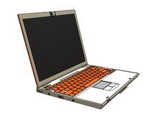 Free Modern Laptop Royalty Free Stock Photos - 8145228