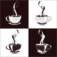 Free Cup Of The Coffee, Four Variants Royalty Free Stock Photography - 8145667