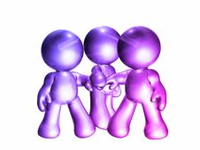 Free Colorful Friends Icon Figure Royalty Free Stock Photo - 8145765