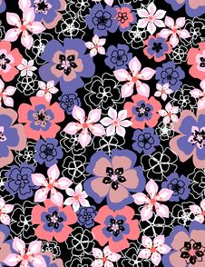Free Floral Seamless Pattern Royalty Free Stock Images - 8146039