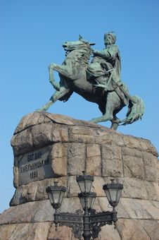 Free Monument Of Famous Ukranian Hethman Royalty Free Stock Images - 8146369