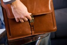 Brown Leather Bag Stock Image