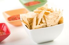 Free Tortilla Chips And Salsa Royalty Free Stock Photo - 8146655